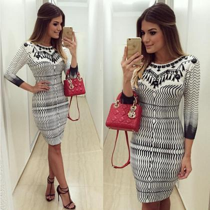 Fashion Women Bandage Bodycon Long ..