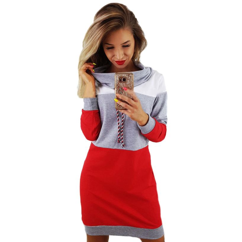 Dress Women Collared Long Sleeve