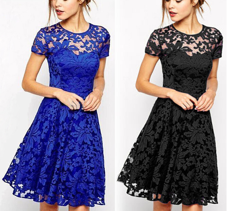 Black dresses with lace