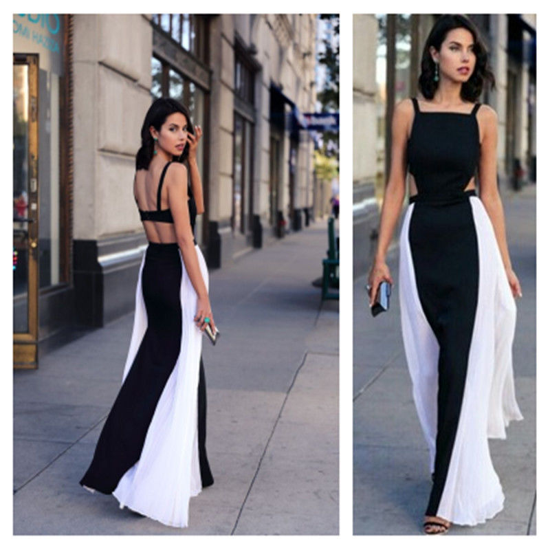 35942a8a0075 Women's Boho Sleeveless Long Summer Maxi Chiffon Sexy Evening Party Beach  Dress