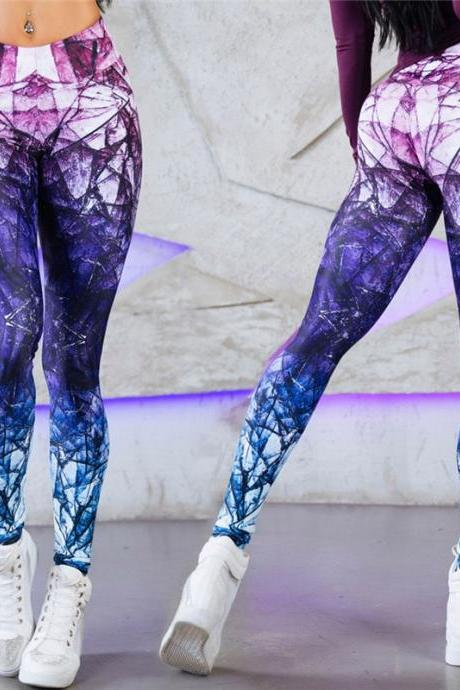 Novelty 3D Printed Leggings Space Galaxy