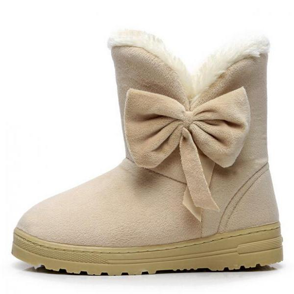 Snow Boots Bowtie Women Boot