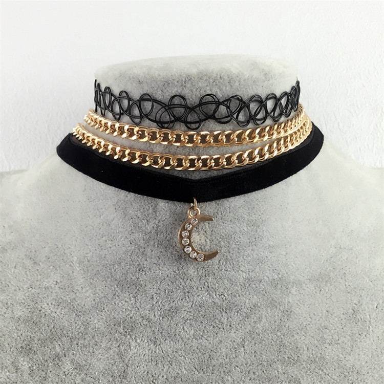 d7eb9be940fe8 Velvet Choker Necklaces For Women Sailor Moon